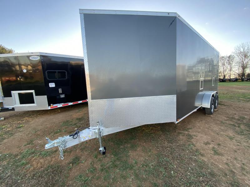 2021 Lightning Trailers LTFES718TA2 Snowmobile Trailer