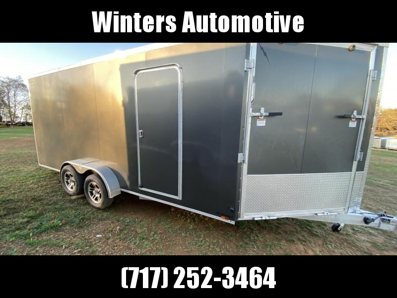 2021 Lightning Trailers LTFES718TA2 Snowmobile Trailer