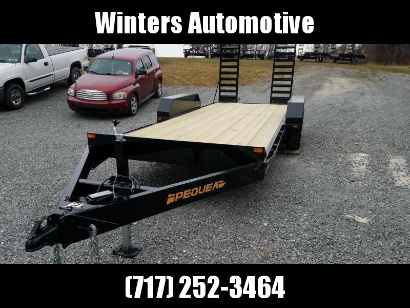 2021 Pequea SKIDSTEER 18' Equipment Trailer