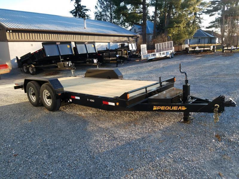 2021 Pequea T100 18 TILT DECK Equipment Trailer