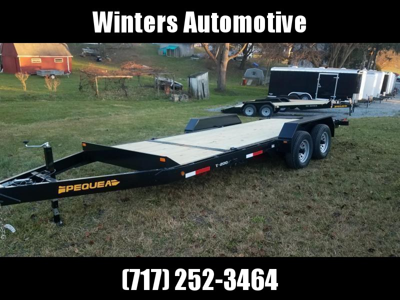 2020 Pequea T200 20 TILT DECK Equipment Trailer