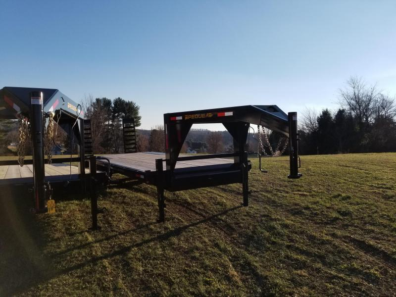 2022 Pequea GOOSENECK DECKOVER 24' Equipment Trailer