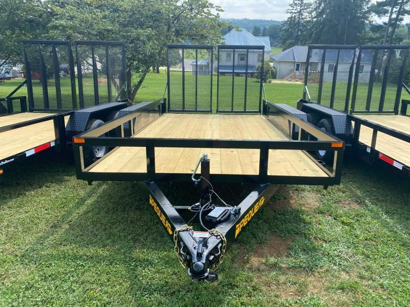 2022 Pequea 80x14TA Utility Trailer with ramps