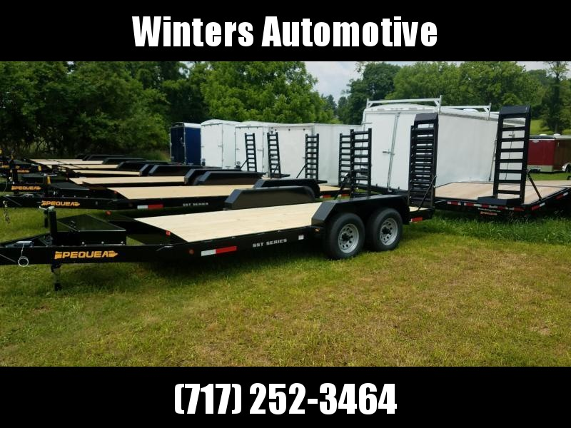 2021 Pequea SKIDSTEER 16' Equipment Trailer