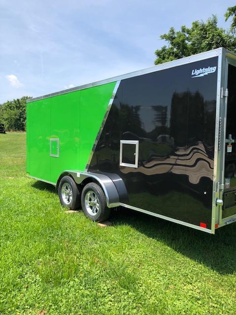 2020 Lightning Trailers LTFES718TA2 Snowmobile Trailer
