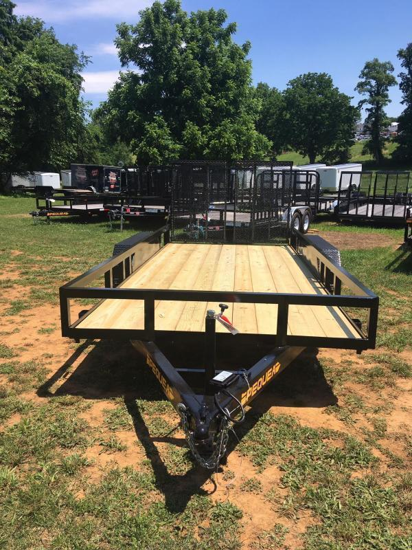 2021 Pequea 80x16 Utility Trailer with ramps