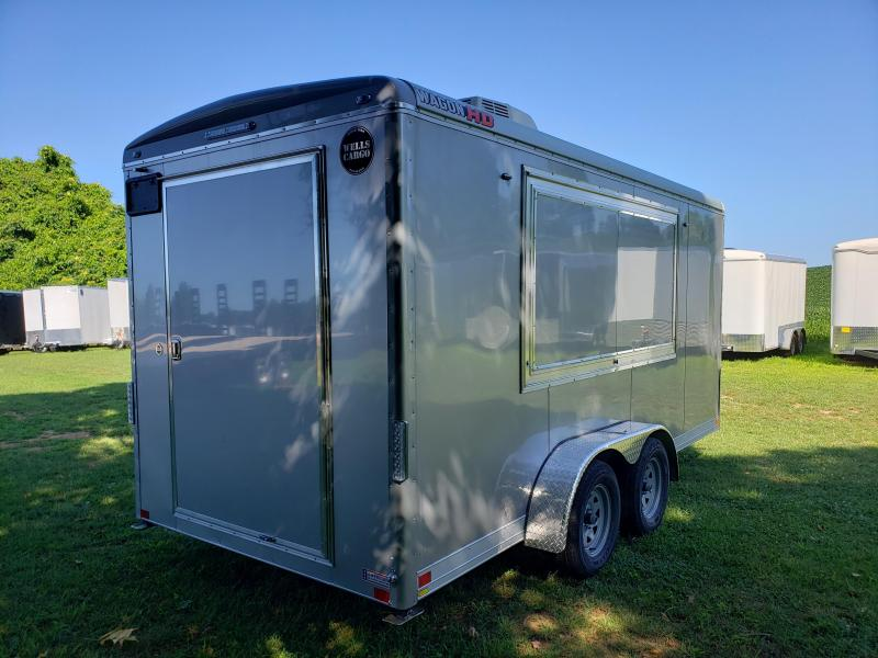 2020 Wells Cargo WGD 7X16 TA2 Concession Enclosed Cargo Trailer