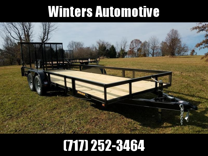 2021 Pequea 80X20 Utility Trailer With Ramps