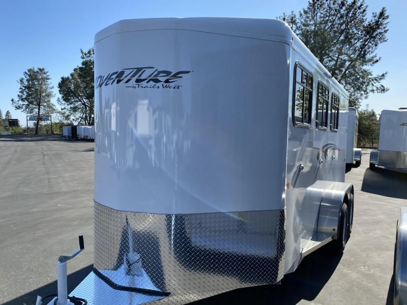 2021 Trails West BP 3H Adventure MX Horse Trailer