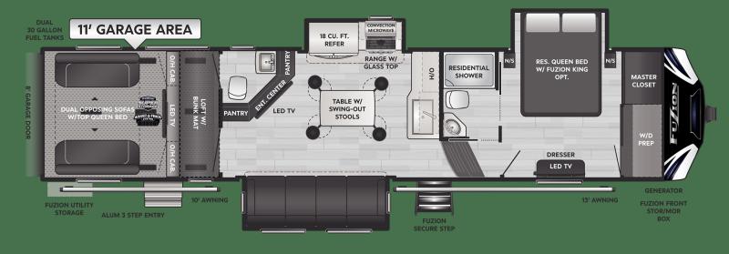2021 Keystone RV Fuzion 373 Toy Hauler RV