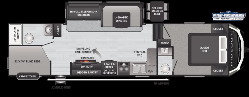 2021 Keystone RV Hideout 301DBS Fifth Wheel Campers