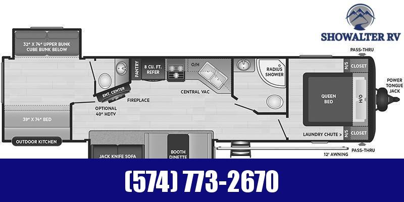 2021 Keystone RV Hideout 338BR Travel Trailer RV