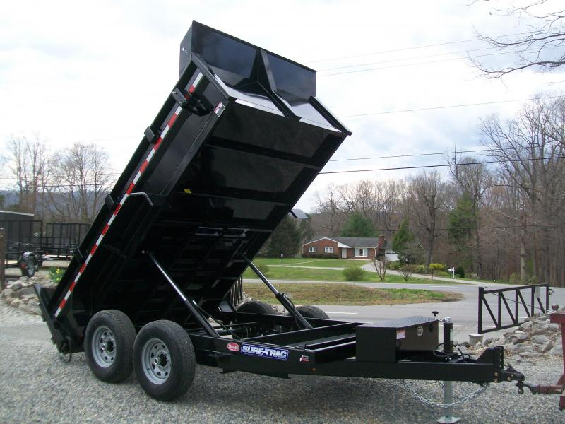 Sure-Trac 82 x 12 12K HD Twin Cylinder Dump Trailer