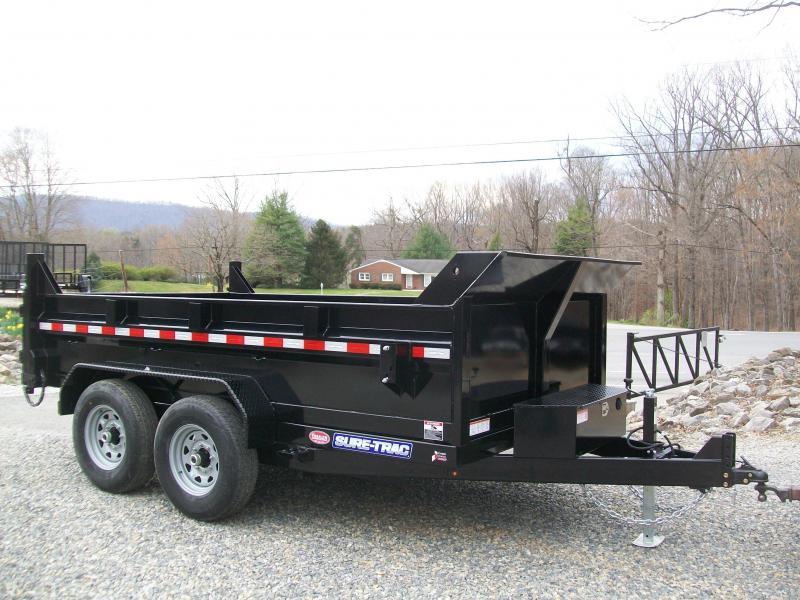 Sure-Trac 82 x 12 12K HD Twin Cylinder Dump Trailer