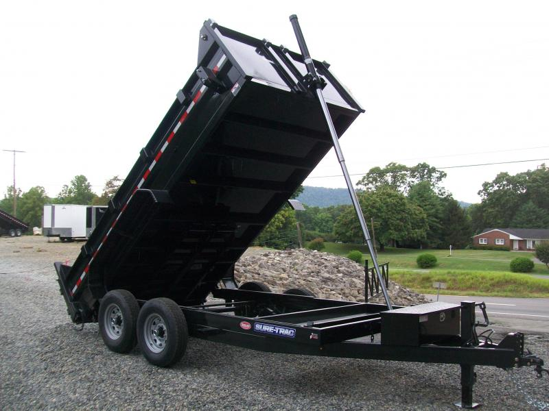 Sure-Trac 82 x 14 14K HD Telescopic Lift Dump Trailer