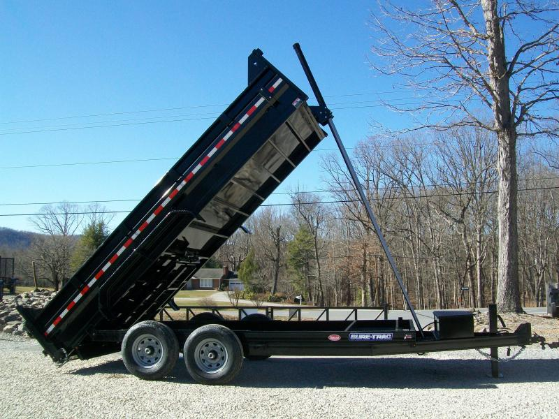 Sure-Trac 82 x 16 14K Telescopic Dump Trailer