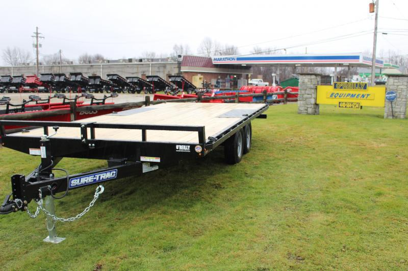 2021 Sure-Trac 8.5' x 18' Flatbed Trailer