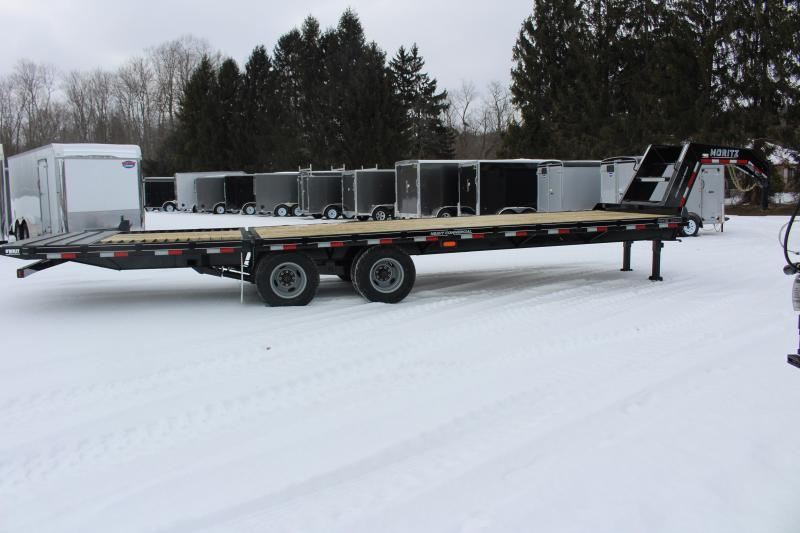 "2021 Moritz FGSH 8' 6"" x 24'+10' Flatbed Trailer - 20000# GVW-Hyd jack -Traction"