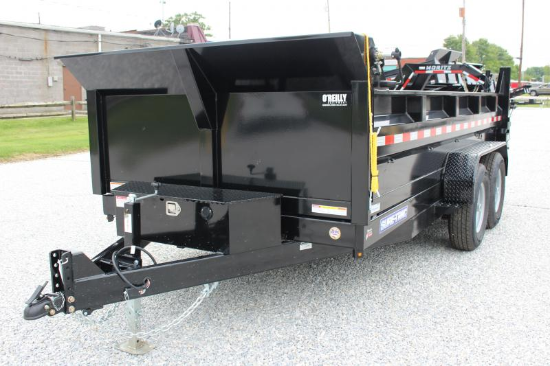 2021 Sure-Trac 7' x 14' HD Dump Trailer - 14000# GVW, Dual Ram