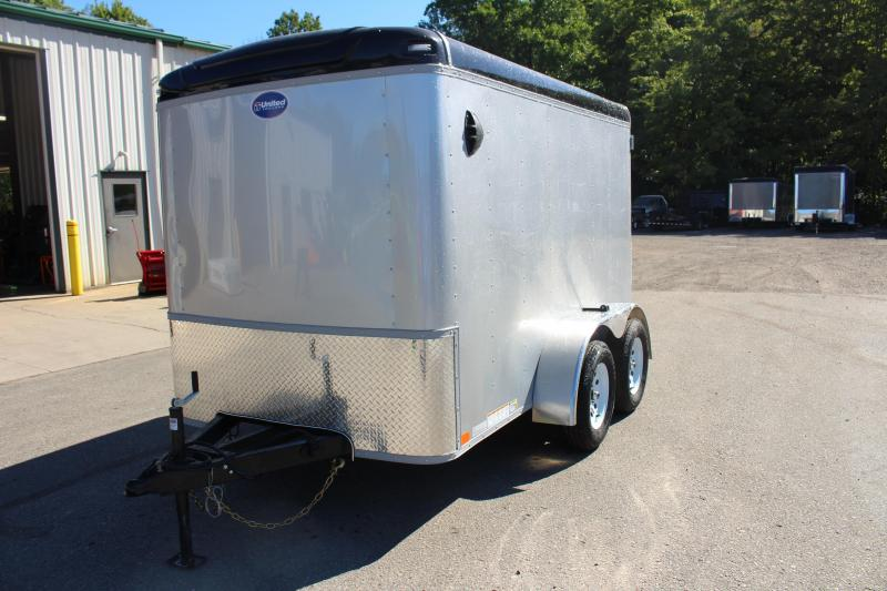 2021 United Trailers 6' x 10' Enclosed -7k Dbl Rear