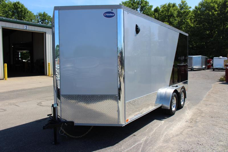 2021 United Trailers XLMTV 7x16 Motorcycle Trailer
