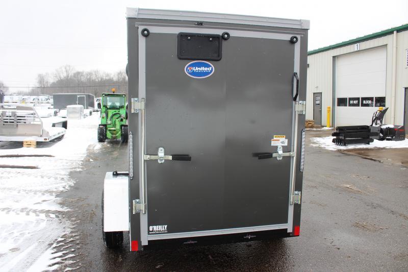 2021 United XLV 5' x 8' Enclosed Trailer - 2990# GVW - Ramp Door