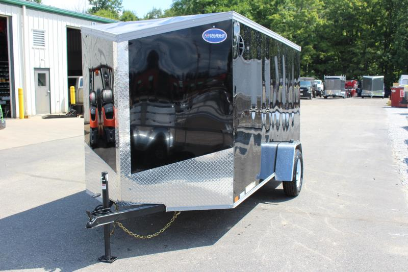 2021 United Trailers XLV 6 x 12 Enclosed- Ramp-Slant