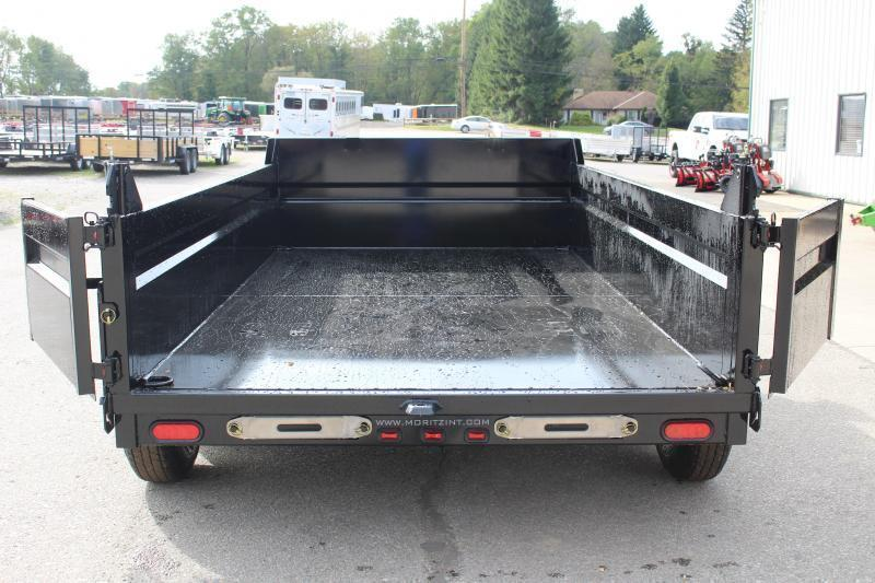 "2021 Moritz International 6'10""x12 HD Dump Trailer"