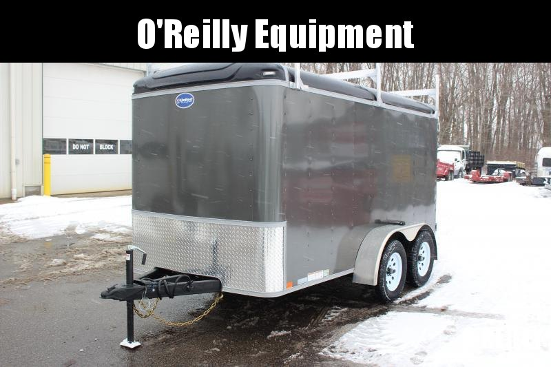 2021 United 6' x 12' Enclosed Trailer - 7000# GVW - Dbl Rear