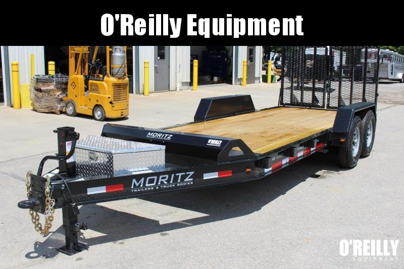 2021 Moritz 7' x 18' Equipment Trailer - 14000# GVW - SPLIT MESH RAMPS