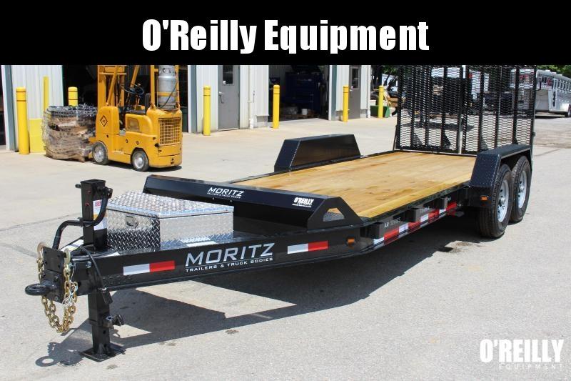 2021 Moritz 7' x 18' Equipment Trailer - 14000# GVW - SPLIT MESH RAMPS
