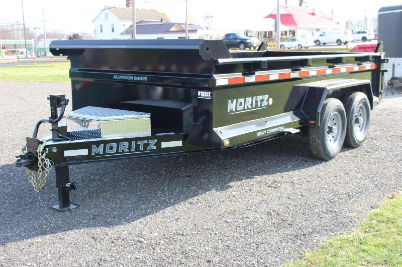 "2021 Moritz International 6'10""x14 HD Dump Trailer"