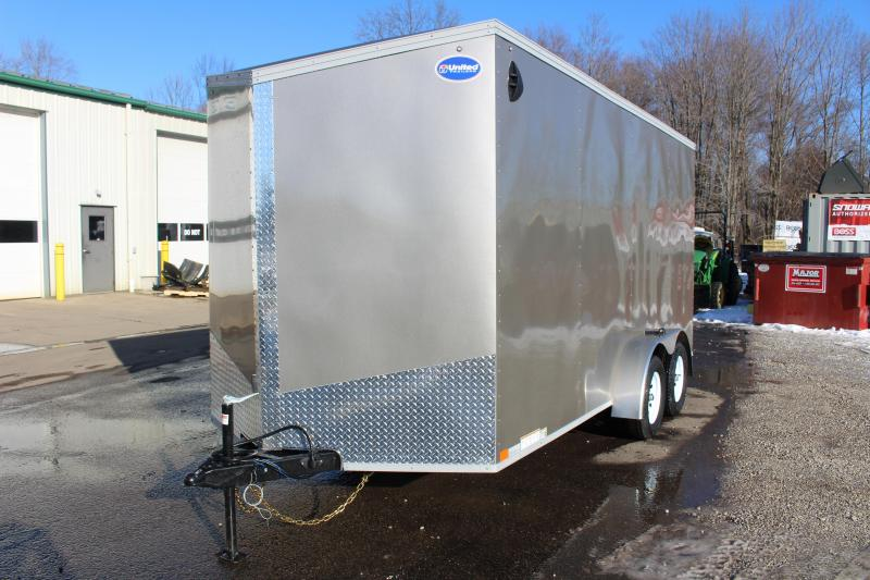 2022 United XLV 7' x 14' Enclosed Trailer - 7000# GVW Ramp