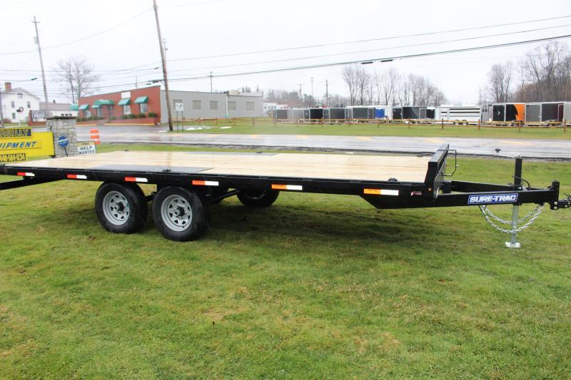 2021 Sure-Trac 8.5' x 18' Flatbed Trailer - 9900# GVW