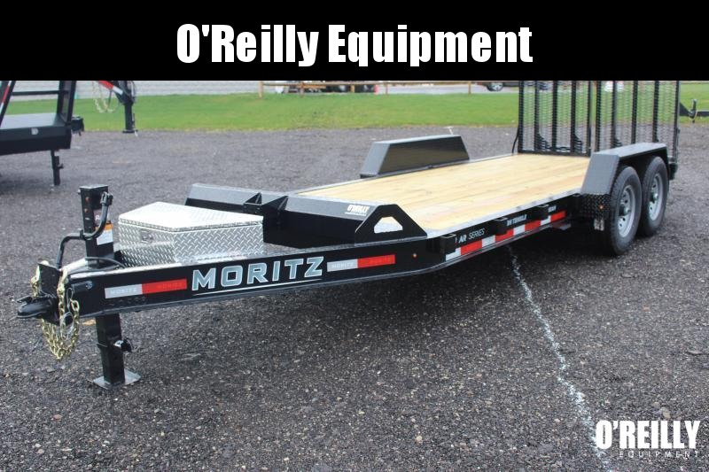 2022 Moritz 7' x 18' Equipment Trailer - 14000# GVW Split Mesh Ramps