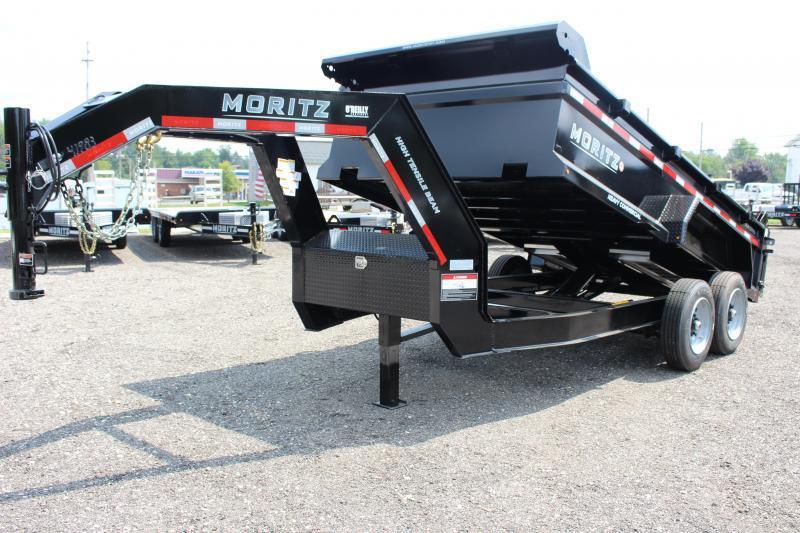 "2022 Moritz 6'10"" x 14' HD Dump Trailer - 16000# GVW"