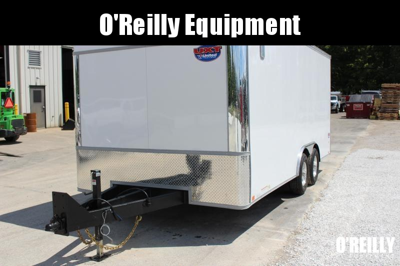 "2021 United UXT 8' 6"" x 18' Enclosed Trailer - 9900# GVW Ramp"