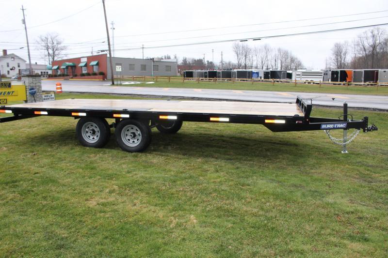 2021 Sure-Trac 8.5' x 20' Flatbed Trailer - 9900# GVW