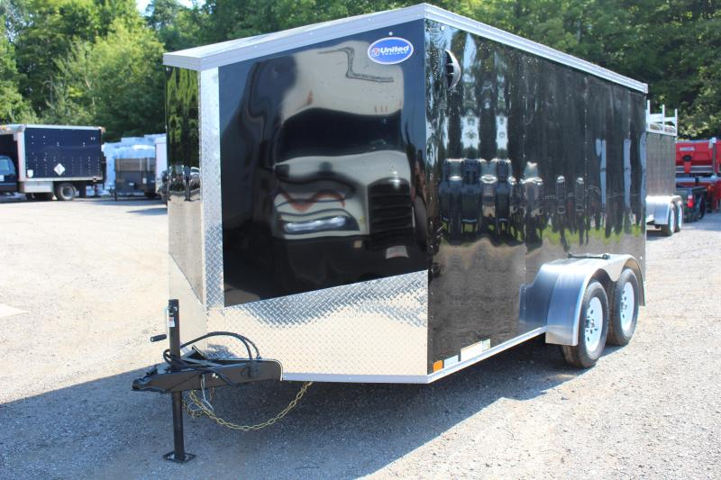 2021 United XLV 7' x 14' Enclosed Trailer - 7000# GVW Ramp
