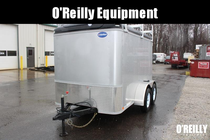 2021 United 6' x 10' Enclosed Trailer - 7000# GVW - ladder racks