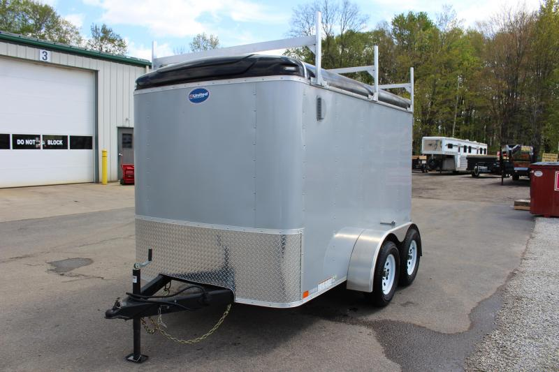 2019 United Trailers 6 x 10' Enclosed Cargo Trailer - 7000# GVW, Dbl Rear Doors Used