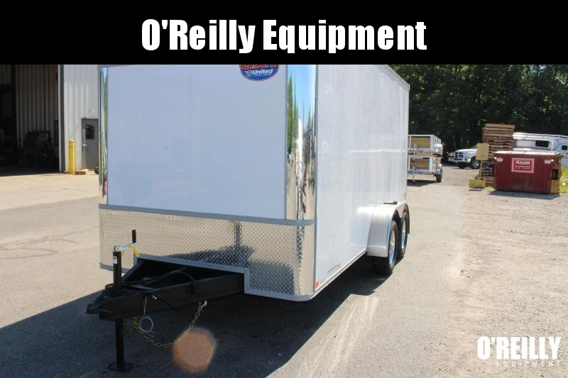 2021 United UXT 7' x 16' Enclosed Trailer - Ramp Door