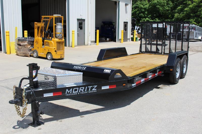 2021 Moritz International 7 x 18 Equipment Trailer