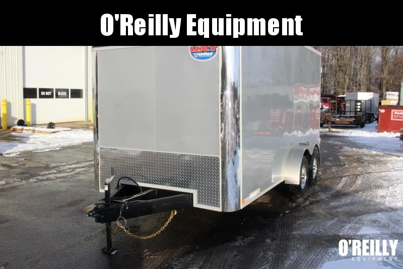 2021 United UXT 7' x 16' Enclosed Trailer - 7000# GVW - Dbl Rear Door