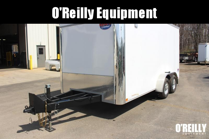 2021 United UXT 7' X 16' Enclosed Trailer - 7000# GVW Ramp