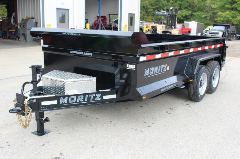 """2021 Moritz International 6'10""""x14 HD Dump Trailer"""