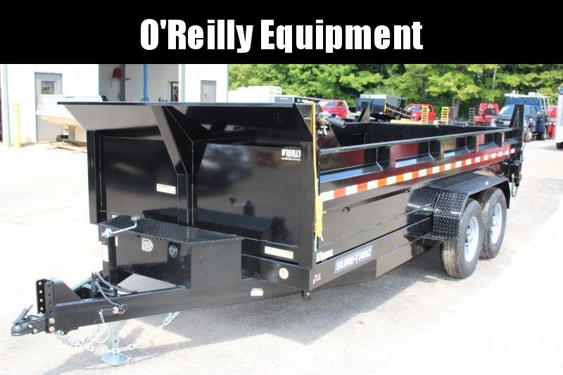 2021 Sure-Trac 7' x 16' HD Dump Trailer - 14000# GVW, Scissor Hoist