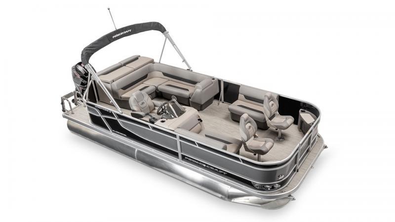 2022 Princecraft Sportfisher 21-2S Pontoon Boat with 90hp Mercury