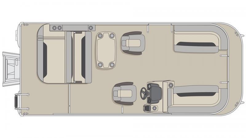 2022 Princecraft Vectra 21 RL Pontoon Boat with 60hp Mercury