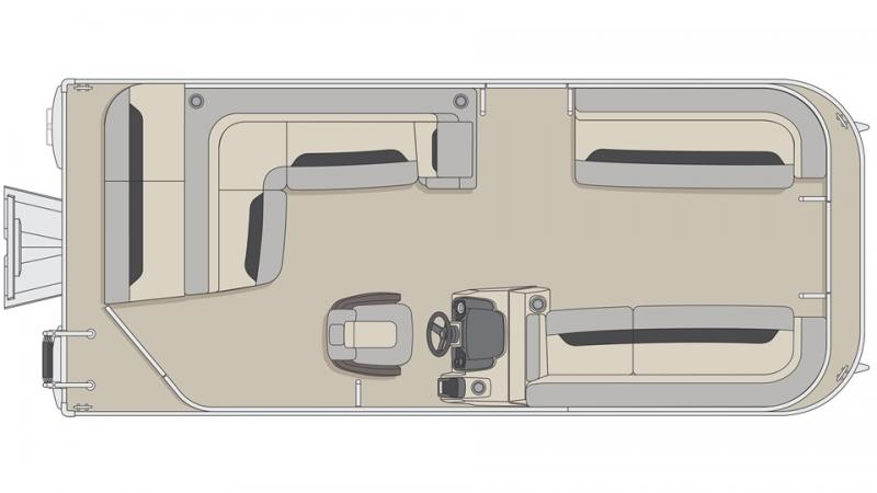 2022 Princecraft Vectra 21 Speed Pontoon Boat with 90hp Mercury
